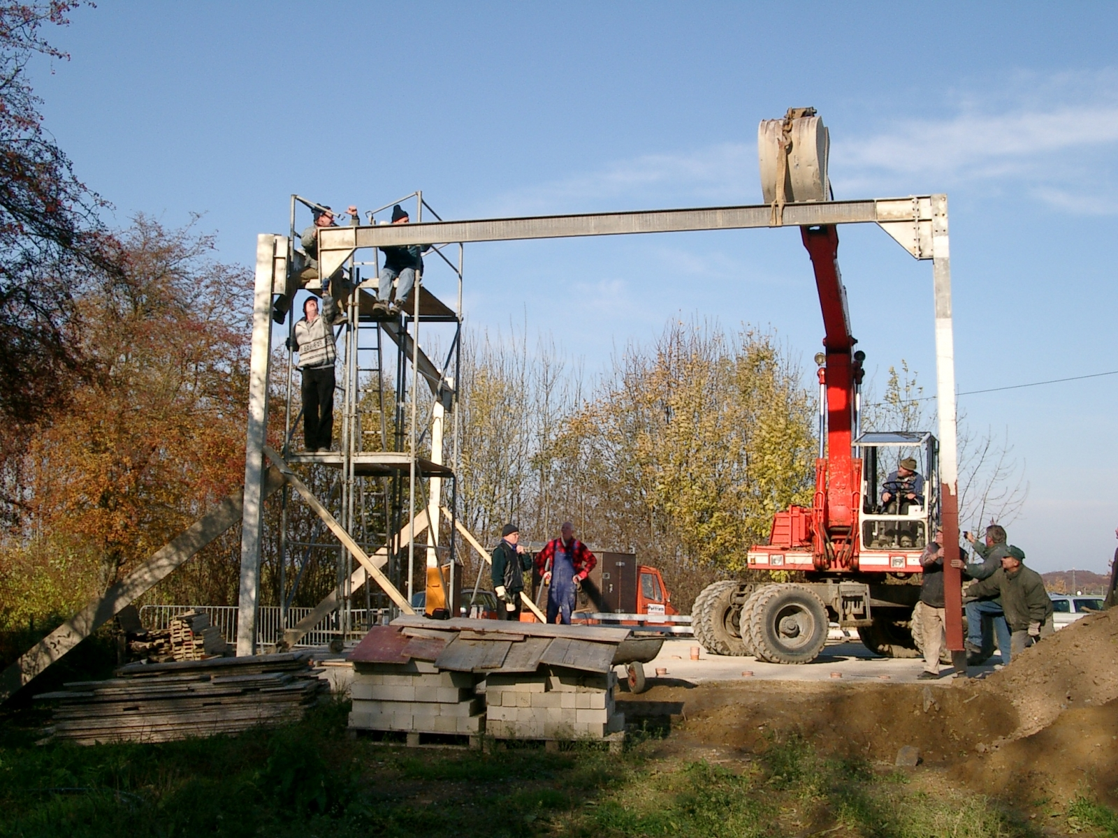 Neubau des Vereinsheimes - 046